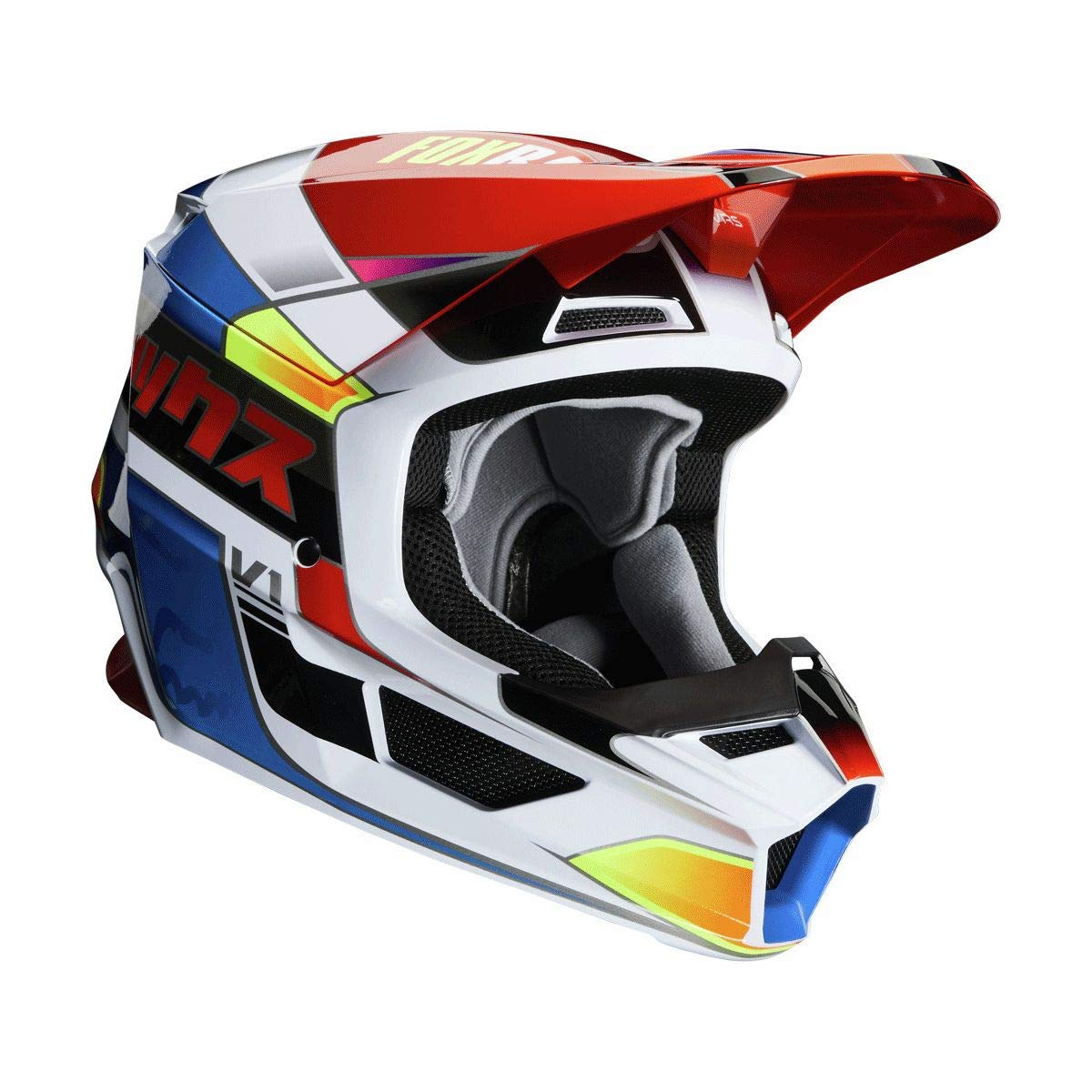 Blue//RED Large Yorr Fox Racing 2020 V1 Helmet