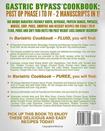 Amazon Com Gastric Bypass Cookbook Fluid And Puree 2 Manuscripts