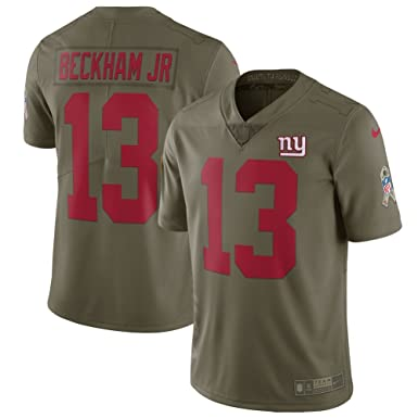 d2c680f13 Image Unavailable. Image not available for. Color  NIKE Men s New York  Giants Odell Beckham Jr Olive Salute to Service Limited Jersey Size L