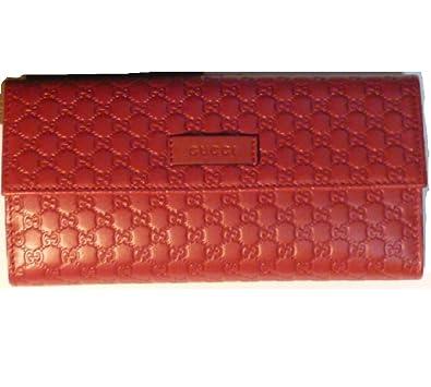 wholesale dealer 35f67 e4488 Amazon | (グッチ) GUCCI 長財布 レディース レッド 新品 ...