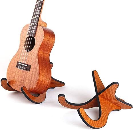 xMxDESiZ - Ukelele de madera con soporte desmontable para guitarra ...