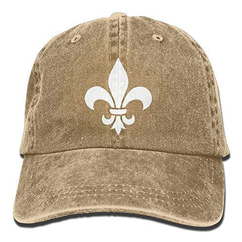 Lis Barbell Fleur De (ji jing Fleur De Lis Washed Retro Adjustable Denim Hat Gym Caps for Man and Woman Natural)