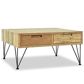Xingshuoonline Table Basse Teck Massif 80 x 80 x 40cm utilisée comme ...