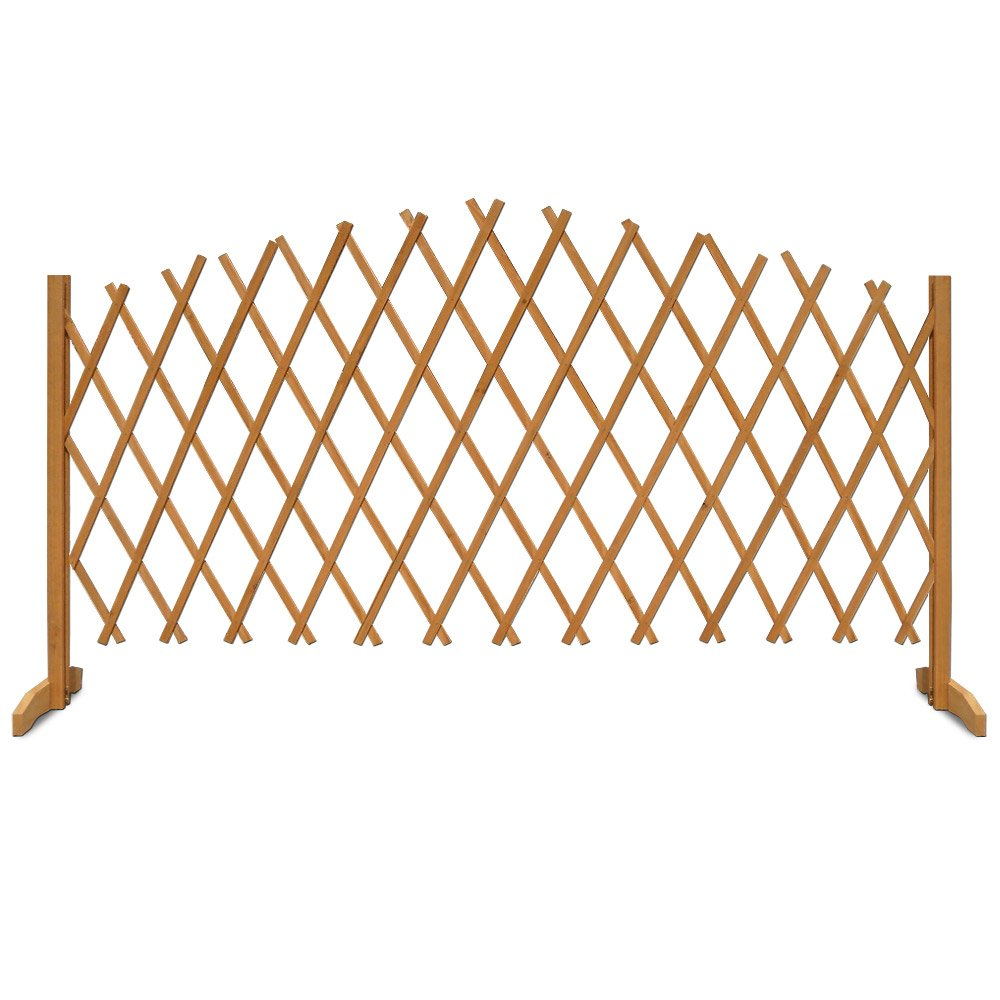 Questions about the recycled plastic raised garden bed 3 x 6 x 11 quot - Expanding Trellis Brown Wooden Fence Growing Support 1 80 M X 1 07 M 6 Ft X 3ft 6 Garden Screen Garden Growing Aid Wooden Freestanding