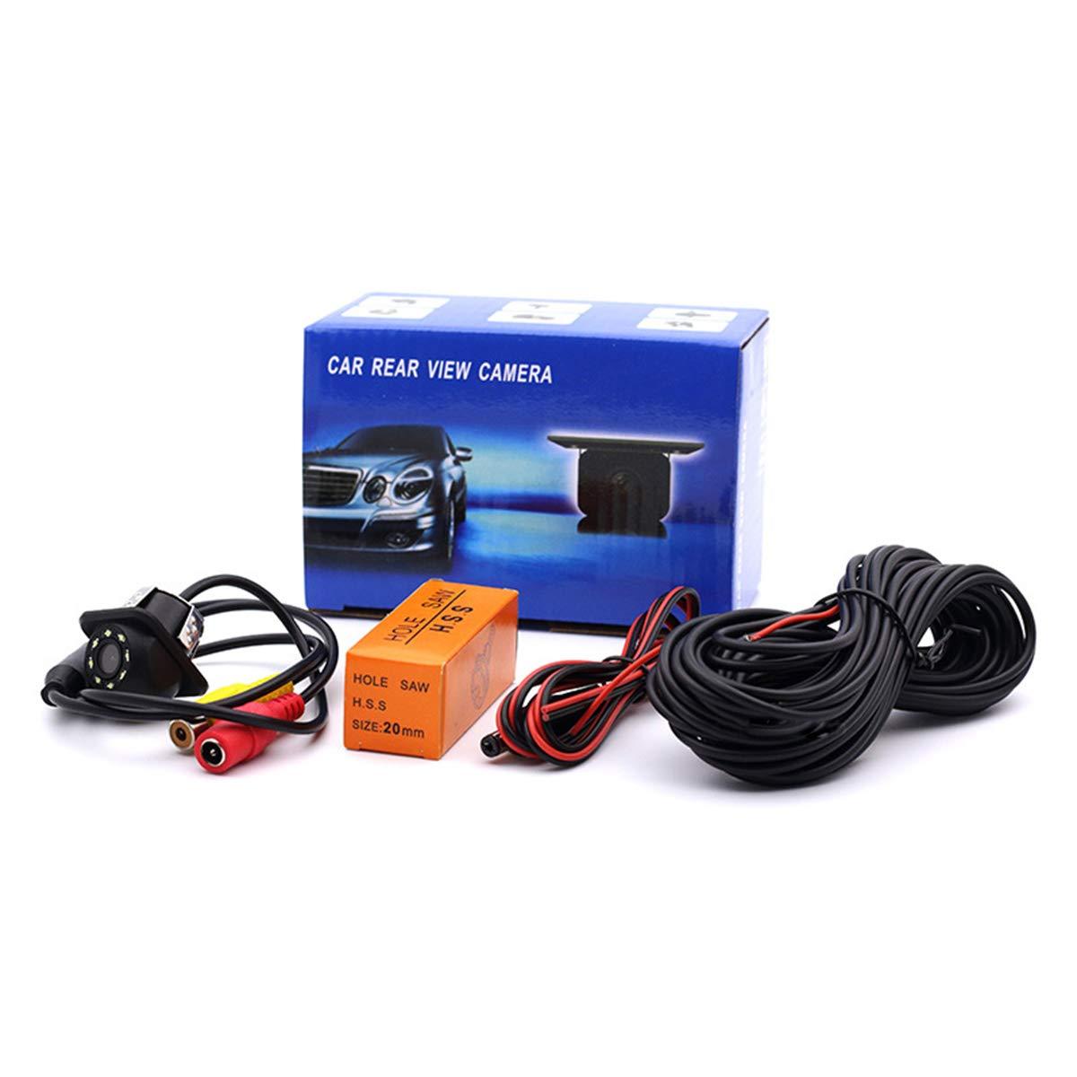8 LED HD CCD coche c/ámara de visi/ón trasera Night Vision Gran angular coche c/ámara de visi/ón trasera coche de reversi/ón de copia de seguridad para la c/ámara de monitor de aparcamiento