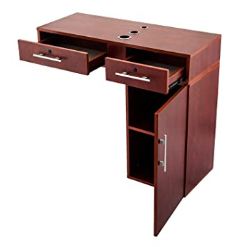 Amazon.com: OrangeA Styling Station Red Barber Station Beauty Salon Station  Hair Salon Cabinet Shampoo Station With Large Pull Out Drawers And Cabinets  ...