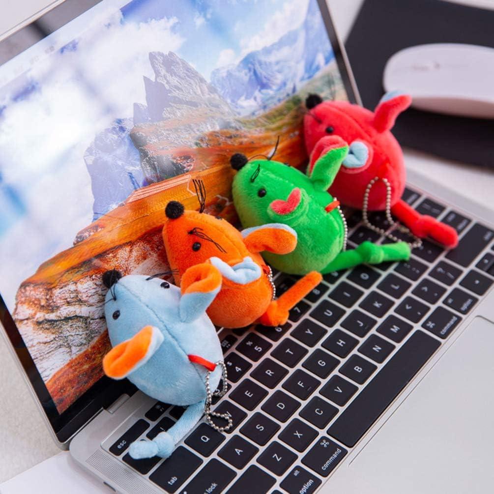 Toyvian 2 Piezas Rat/ón Llavero Felpa Encantos Animales de Peluche Llavero Encantos Bolso Mochila Monedero Colgantes 2020 A/ño Nuevo Chino Regalo de Recuerdo Color Mezclado