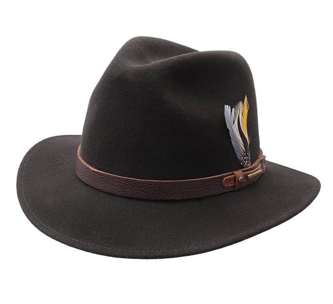 4c020b565bb3a Stetson Atlanta Vitafelt Wool Felt Fedora Hat Size L: Amazon.ca ...