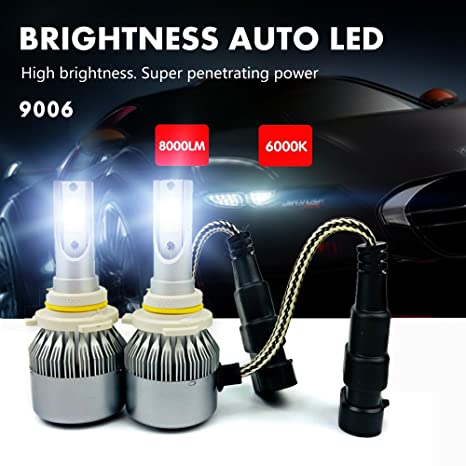 Amazon com: T2 Car LED Headlight Integrated Conversion Kit, (T2-9006