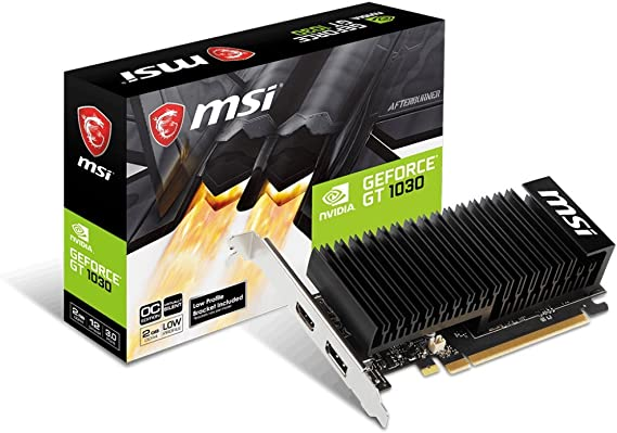 MSI GAMING GeForce GT 1030 2GB GDRR4 64-bit HDCP Support DirectX 12 Low Profile Heat Sink OC Graphics Card (GT 1030 2GHD4 LP OC)