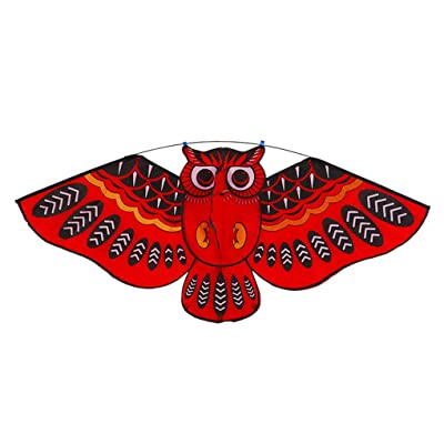 Kids Adults Cartoon Animal Flying Kite Line Flying Toys Children Kids Adults Outdoor Tool, red, 110 * 50cm: Everything Else