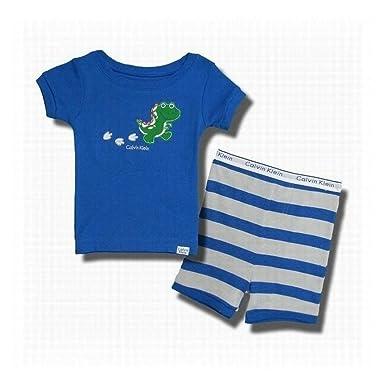 Calvin Klein - Pijama dos piezas - para niño turquesa 24 meses: Amazon.es: Ropa y accesorios
