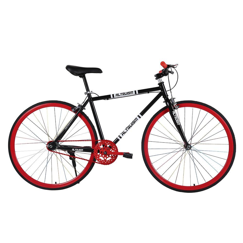 Altruism S6 自転車 26インチ タイヤ 700c ロードバイク クロスバイク 軽量 男性 女性 B01KHEX4MY 赤 赤