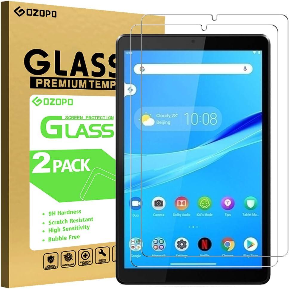 Pel/ícula de vidrio templado para Tab M8 HD GOZOPO Protector de pantalla para Lenovo Tab M8 HD//Smart Tab M8//Tab M8 FHD, 2 unidades resistente a los ara/ñazos