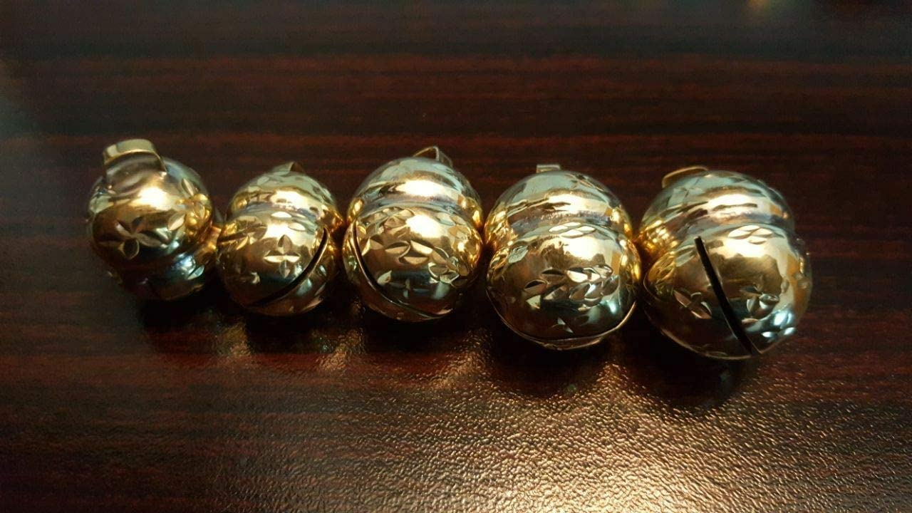 Dog Cat Jewelled Lahore Golden Bells Pair All Sizes XSmall Falconry Size 1