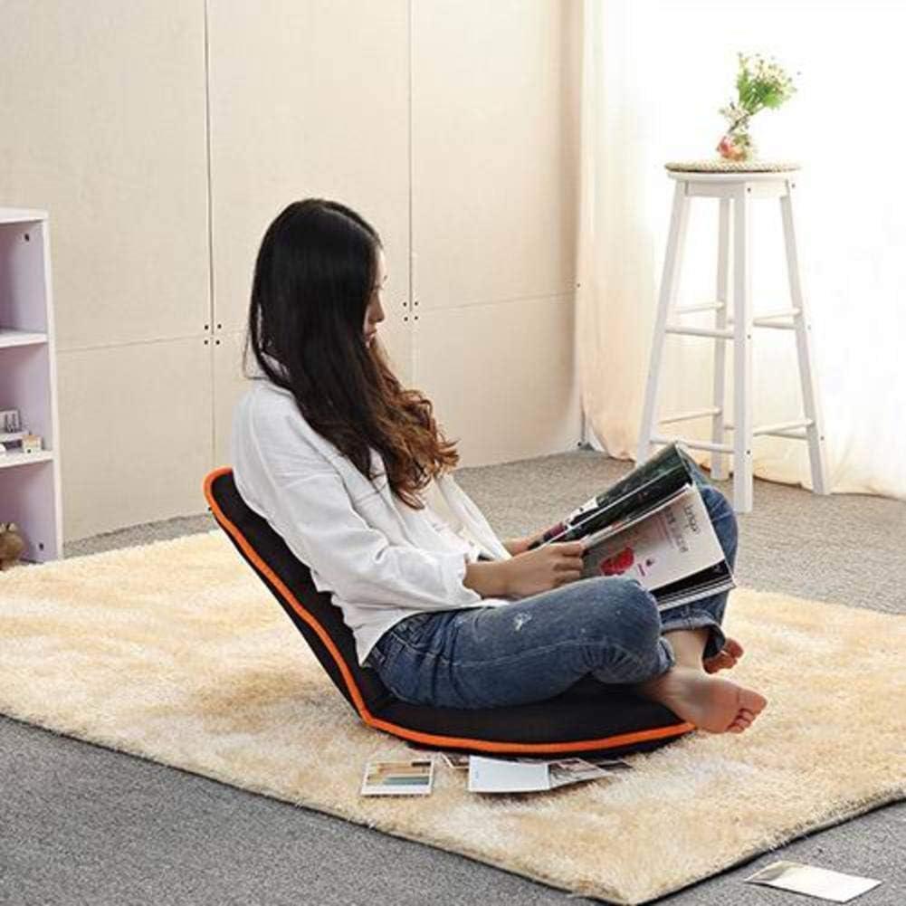 Réglable Chaise Pliante De Plancher,Léger Respirant Fauteuil Inclinable De Salon Couch Paresseux avec Backrest pour Reading Se Détendre Meubles De Salon D A