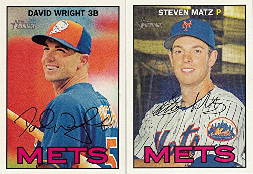 New York Mets 2016 Topps Heritage Series 14 Card Team Set with David Wright and Curtis Granderson Plus