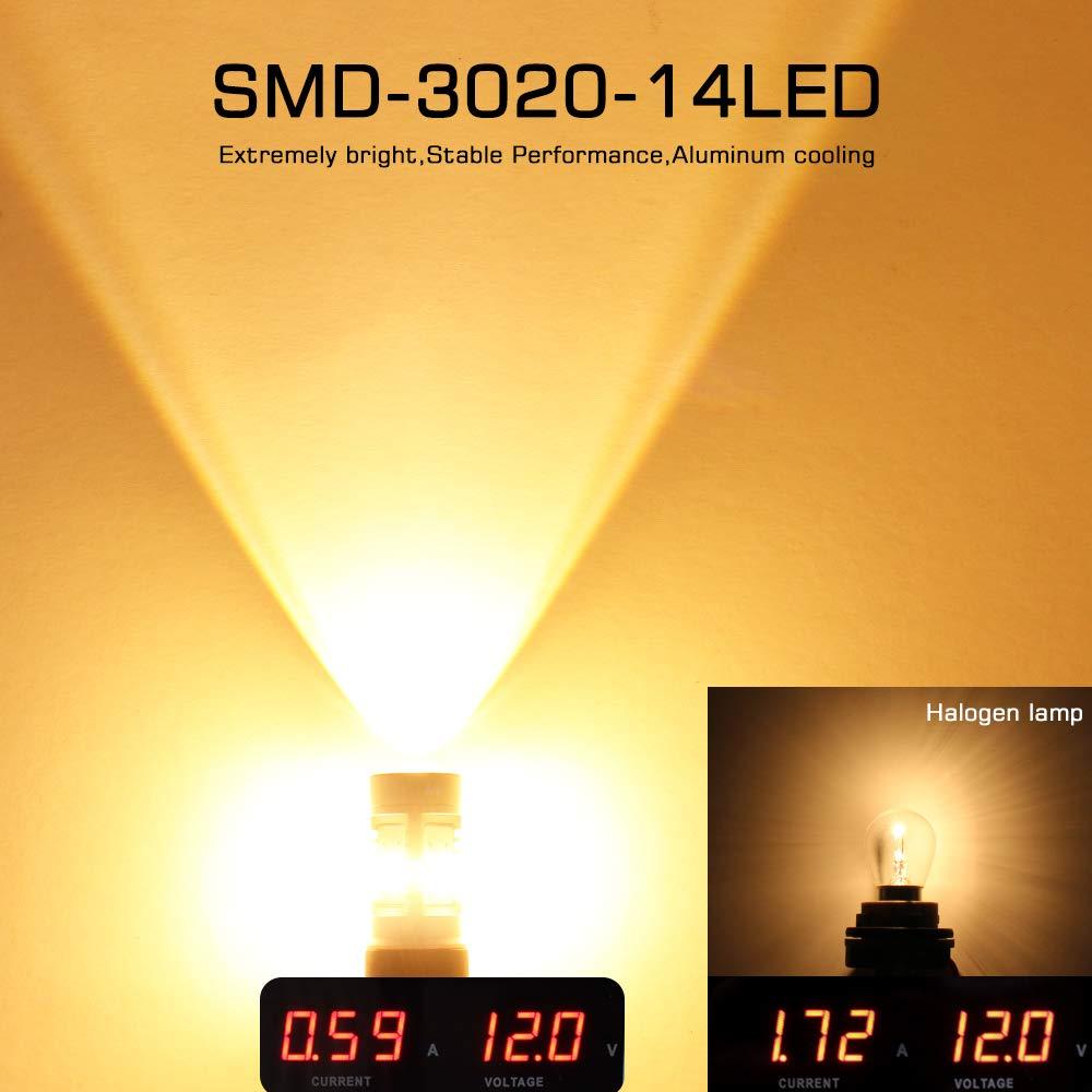 MAXGTRS Extremadamente brillante 7443 W21/5W T20 Bombilla LED 3020 ...