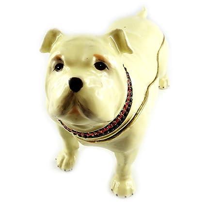 Amazoncom Jewellery Box Bulldog Anglais Beige Kitchen Dining