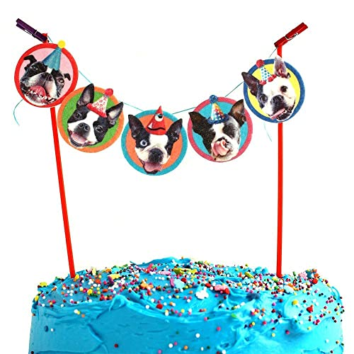 Image Unavailable Not Available For Color Boston Terrier Cake Garland