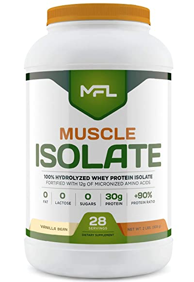 MFL 100% Isolate Protein l 30g of Protein l 12g Amino Acids l Keto Friendly l Low Carbs l 2 lbs.