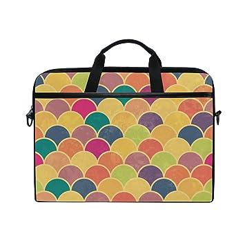 Ahomy - Bolsa para Ordenador portátil de 14 a 15 Pulgadas, Colorido Lienzo arcoíris,