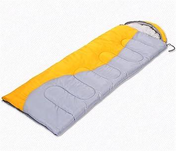 HYSH Al Aire Libre Espesa Saco de Dormir Hueco de Algodón de Invierno se Puede Coser Saco de Dormir Doble Pareja, Yellow: Amazon.es: Deportes y aire libre