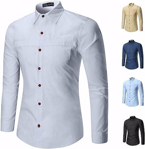 GK Hombre Camisa Moda Casual Camisa de Vestir Slim Fit Sau personalidad juvenil camisa blanca de manga larga tendencia de ,XL: Amazon.es: Deportes y aire libre