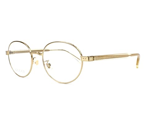 Amazon.com: Gucci GG 0189 O- 003 GOLD/YELLOW Eyeglasses: Clothing