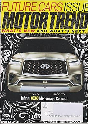 Motor Trend July 2017 Infiniti Qx80 Monograph Concept Future Cars