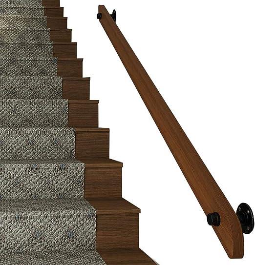 Balaustradas para escaleras Barandillas de Madera Antideslizantes para Barras, desvanes, escaleras Accesorios de Pared/Soporte Tirador Barra de Agarre de la barandilla con Kit de instalación: Amazon.es: Hogar