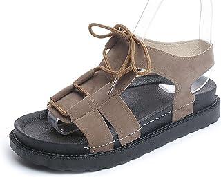 KUKI Mme Summer Sandals Coréenne Casual Muffin Étudiant Chaussures Étudiant Semelles épaisses Chaussures à talons bas Roman, 1, US6/EU36/UK4/CN36