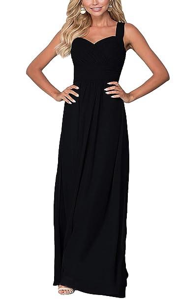 Amazon.com: Aofur - Vestido largo para mujer, sin mangas ...
