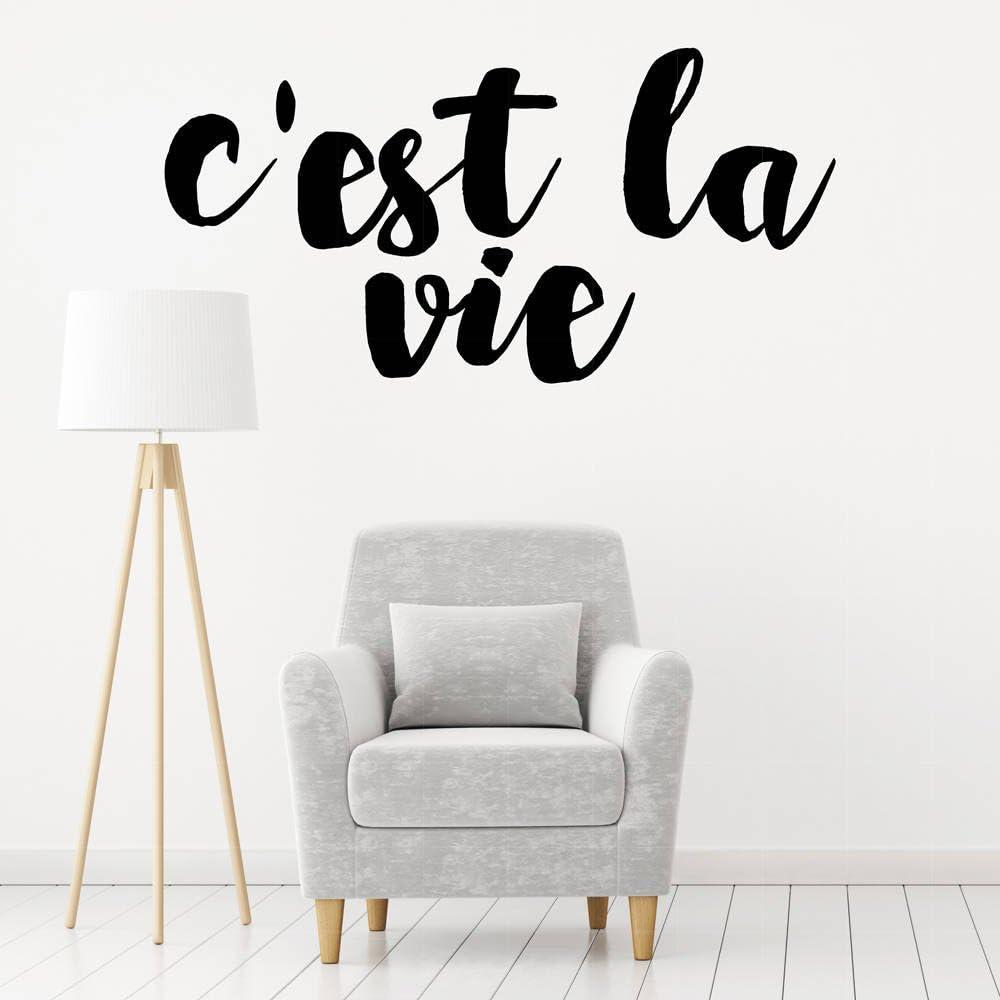 Amazon Com Wall Decal Cest La Vie Living Room Decals Cest La Vie