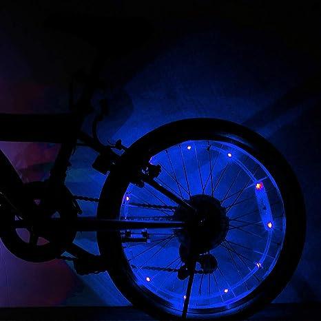 WEIHUIMEI - 1 luz LED Brillante para Rueda de Bicicleta, luz ...