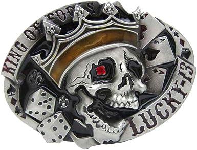 Casino Poker Belt Buckle s with Free Leather Belt