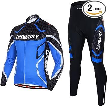 Amazon.com: Leobaiky - Conjunto de ropa de ciclismo para ...