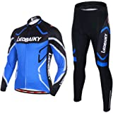 Leobaiky Spring Autumn Winter Mens Cycling Clothing Set Sportswear Suit 0utdoor Sports Bicycle Bike Long-Sleeved Cycling Jerseys and Pants