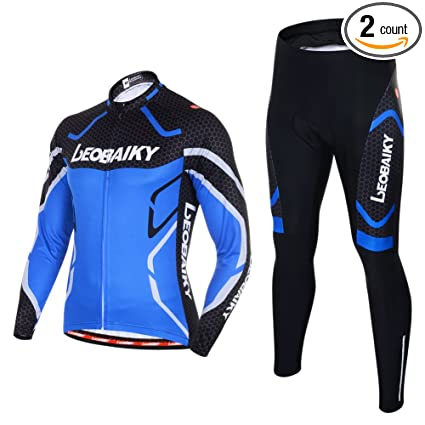 Leobaiky Spring Autumn Winter Mens Cycling Clothing Set Sportswear Suit  0utdoor Sports Bicycle Bike Long- d38afdd9b