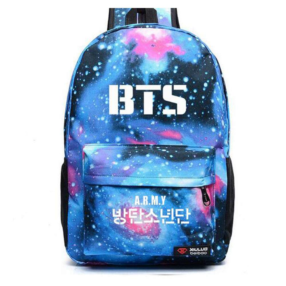 BTS Love Yourself Youth schoolbag backpack Daily backpack for Teens (Style-C)