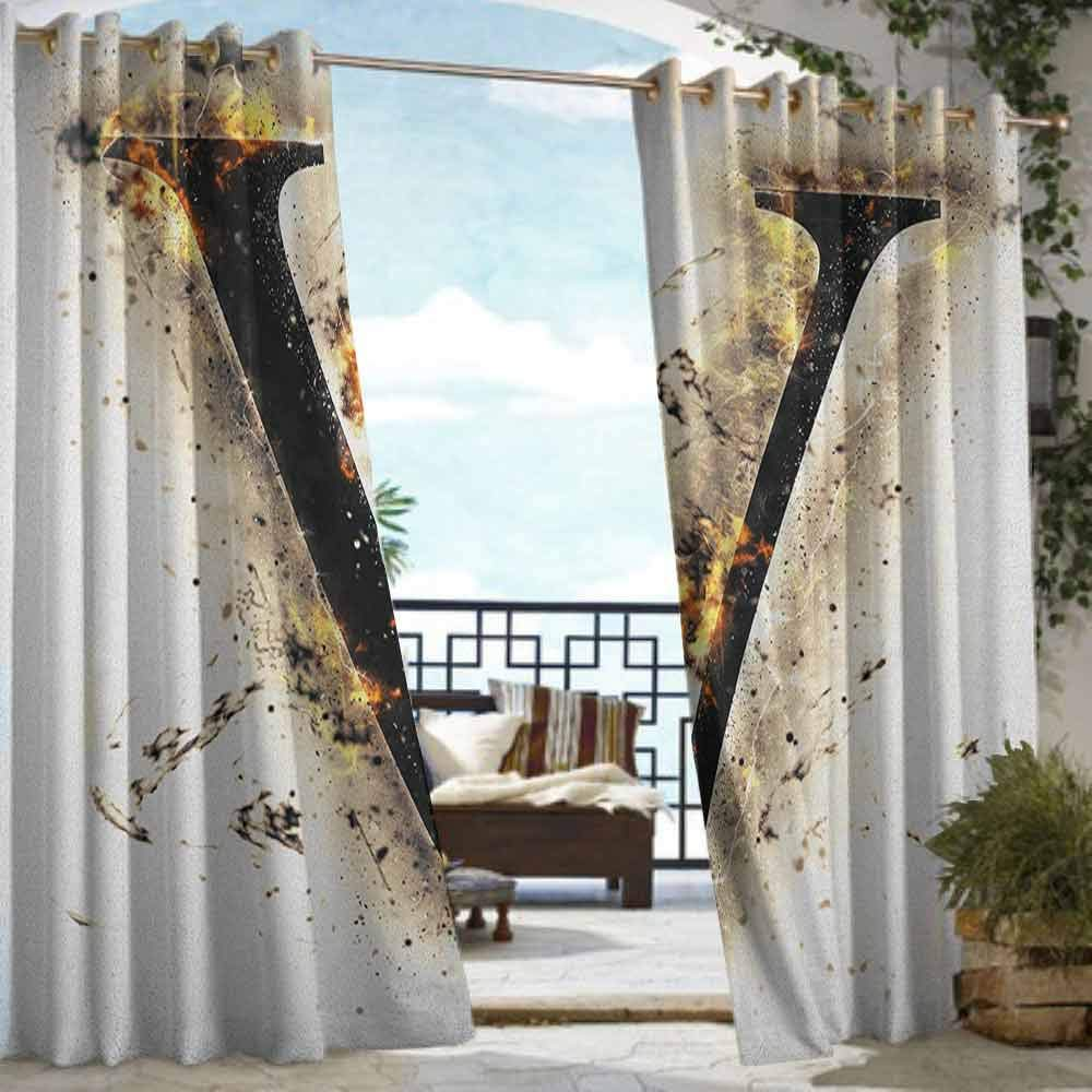Amazon.com: XXANS - Cortina de pérgola, diseño de Majuscule ...