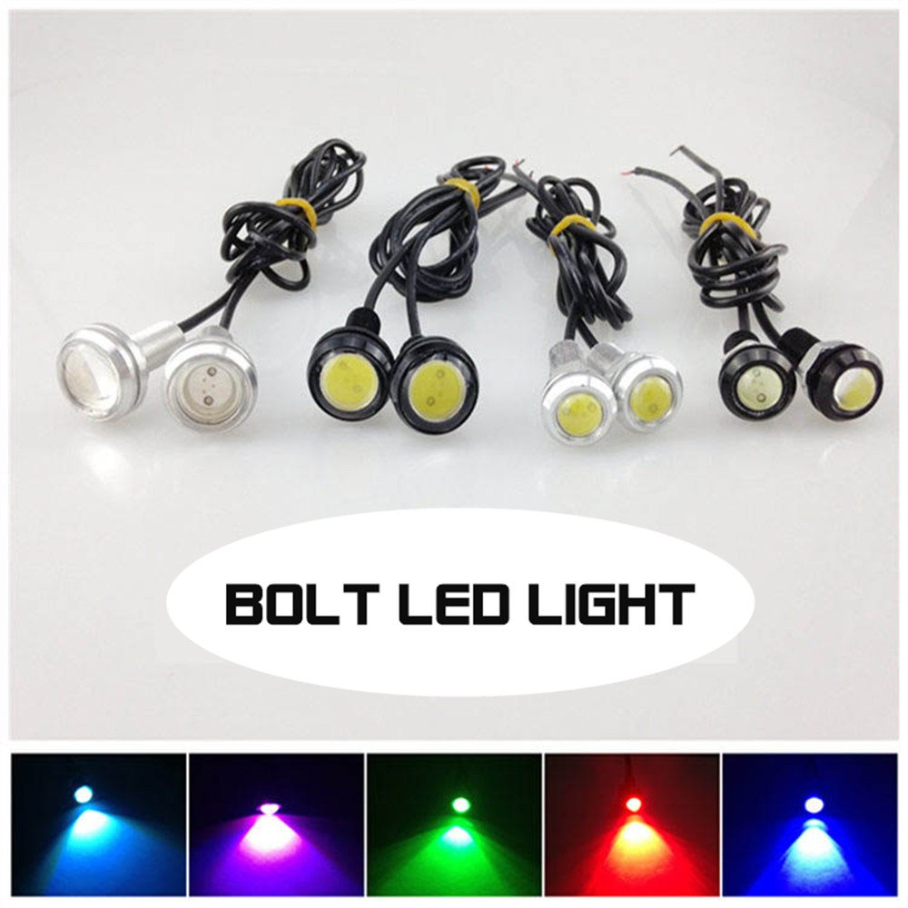12 Volt Led Lights 2pcs//lot Tail Number Styling New Car Auto Motorcycle License Plate Lamp MOTOAUTOLED Factory Sales 23mm Diameter Car Led Bolt Bulb