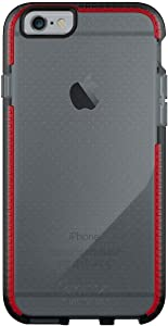 tech21 - Evo Mesh - Phone Case for iPhone 6 and iPhone 6S - Ultra Thin, Drop Protection of 6.6FT or 2M - Bulk Packaging - Smokey/Red