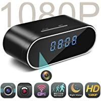 $59 Get Spy Camera,MCSTREE Hidden Camera in Clock WiFi Hidden Cameras 1080P Video Recorder Wireless…