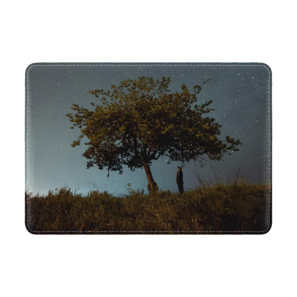 Tree Man Night Leather Passport Holder Cover Case Travel One Pocket