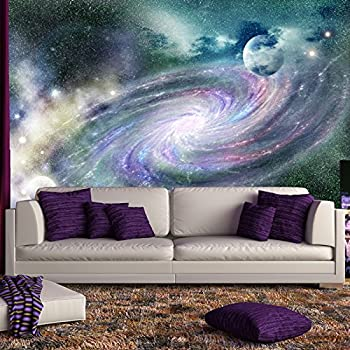 Purple galaxy spiral wall mural space nebula for Amazon bedroom wallpaper