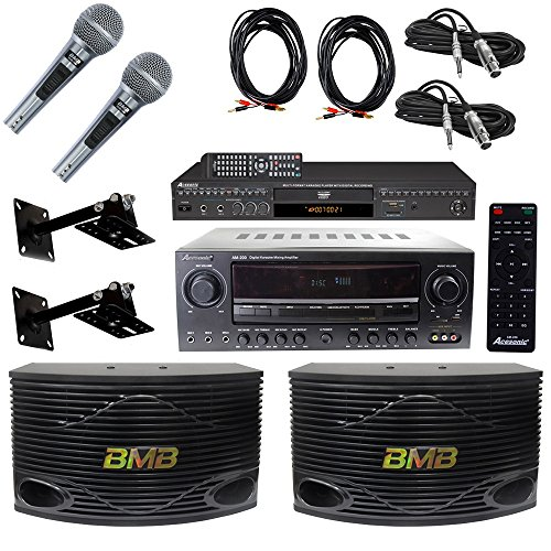 Acesonic DGX-220 HDMI Karaoke Player With AM-200 Mixing Amplifier Bundle With BMB CSN-300 8