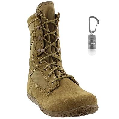 2581b55ad44 Tactical Research Mens TR105 Mini-Mil Minimalist Combat Boot with Bonus  Nebo Light Bundle (2 Items)