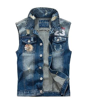 Jeansjacken ohne armel