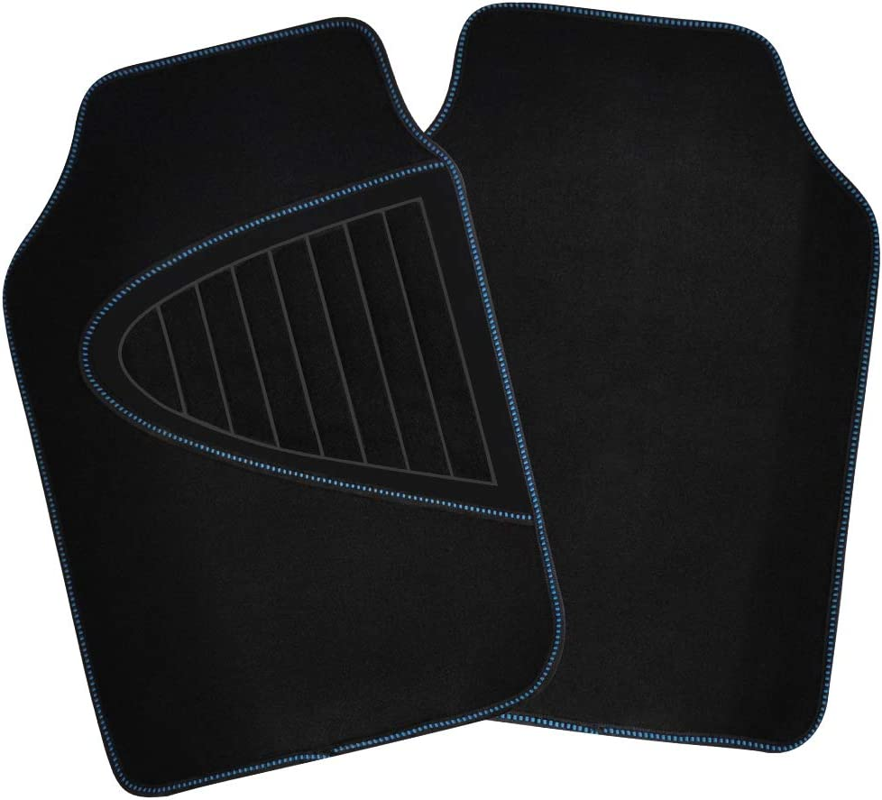 Rubber Backing SHIMAKYO Carpet Car Floor Mats for SUV Truck 4 Pcs All Weather SK1191-GY Gray